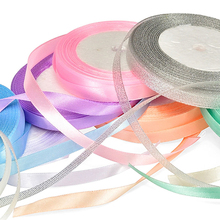 1 Roll Colorful Silk Balloon Ribbon DIY for Accessories Christmas Gift Bow Cake Support Wholesale