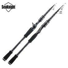 SeaKnight 2019 Sange II 2.1M 2.4M Carbon Rod Telescopic Fishing Rod M Power Casting Spinning Rod Travel Rod 7-25g 8-18LB Fishing