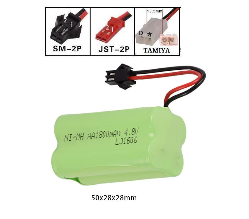 LEKYLUKY 4.8v 1800mah X-style High capacity AA NI-MH rechargeble Battery for electric toys RC toys size 50*28*28mm