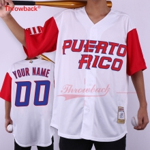 Throwback Jersey Men's Puerto Rico Movie Baseball Jerseys Customized Jersey Any Number Name Size S-3XL Free Shipping Cheap