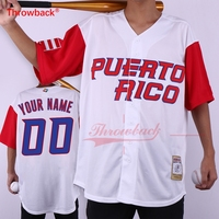 Throwback Jersey Men's Puerto Rico Movie Baseball Jerseys Customized Jersey Any Number Name Size S 3XL Free Shipping Cheap