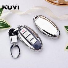 цены TPU+PC Car Remote Key Cover Case For Infiniti Nissan Qashqai J11 Juke X-Trail Buttons Flip Shell Remote key cover