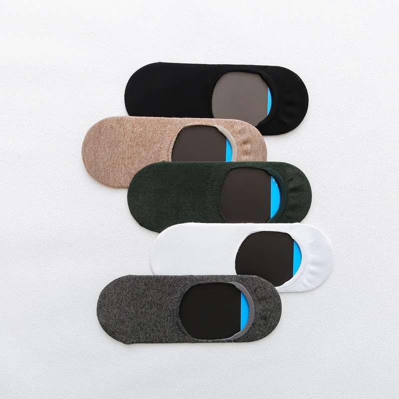 Men's Socks Cotton Summer Boys Boat Invisible Short Stockings Slim Invisible Non-slip Breathable Socks Men's Sports Socks