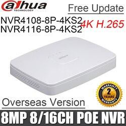 8mp original NVR4108-8P-4ks2 NVR4116-8P-4ks2 8ch 16ch mini nvr 8 poe porto DH-NVR4108-8P-4ks2 substituir nvr4108-8p nvr4116-8p