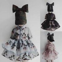 BONGAWAN Kids Dresses for Girls 2018 Summer Deer Cartoon Rose Princess Girl Dress for Party and Birthday Children Clothes 3T 14T