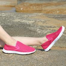 Women's River Shoes Fashion Hollowed Mesh Breathable Sneakers Slip-On Lightweight Shoes Outdoor Casual Sport Shoes цены