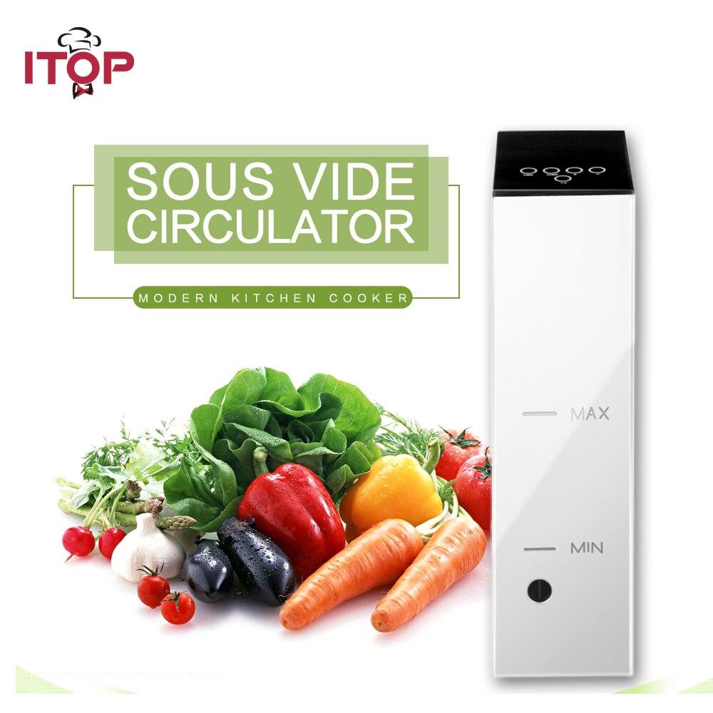 ITOP Elétrica Cozinhar Sous Vide Uso com Aferidor Do Vácuo embalado A Vácuo-Alimentos Circulador de Imersão Térmica