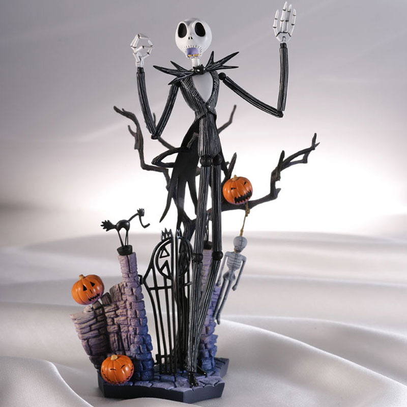 Hot Tim Burton Film The Nightmare Before Christmas Jack Skellington 5 Heads Sci-Fi Revoltech 005 # 18CM  Action Figure цена и фото