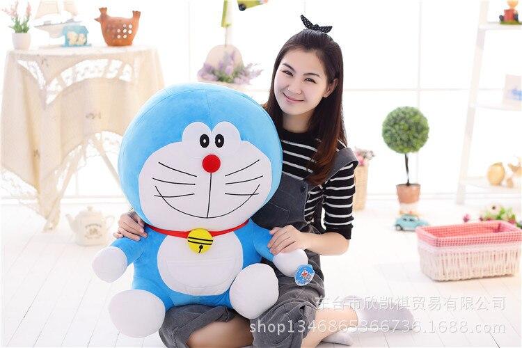 Dessin animé sourire Doraemon chat peluche oreiller doux, cadeau d'anniversaire w5388