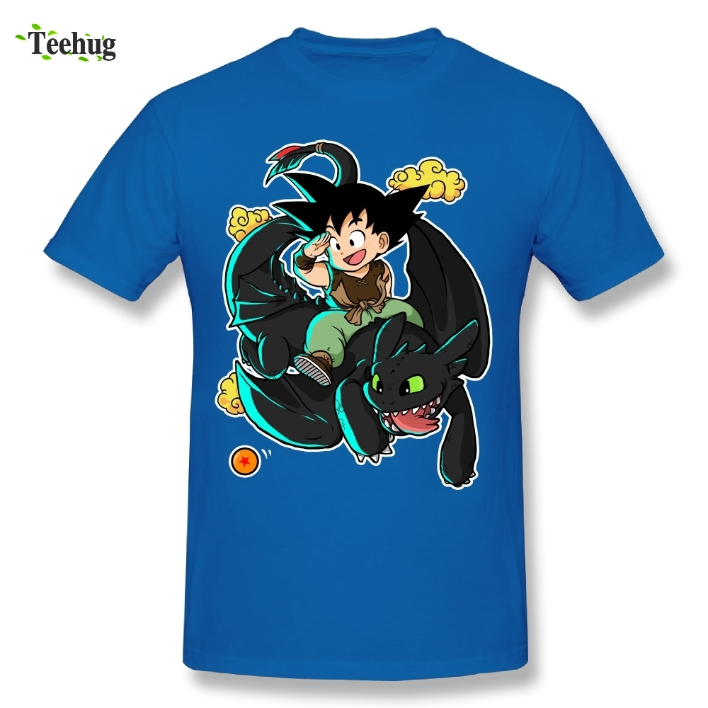 Fashionable Men's How to Train your Dragon Ball T Shirt 100% Cotton Japanese Anime Tee Shirt