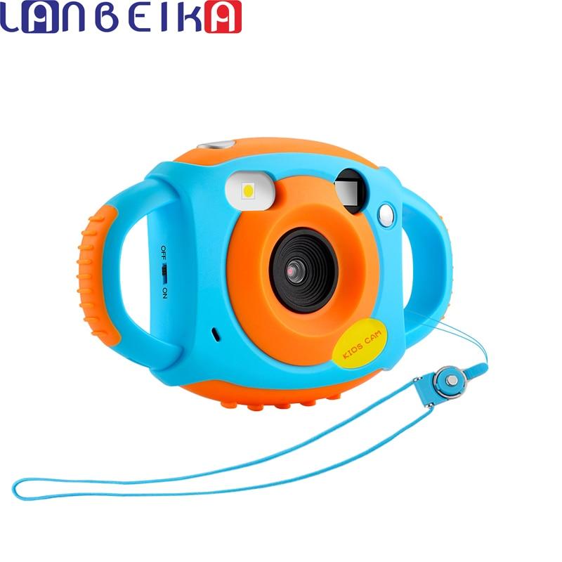 LANBEIKA Mini Digital Kids Cameras 5MP HD Projection photo Digital Portable Cute Neck Child Photography Video Camera Kids Gift