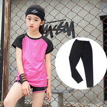 Yoga clothes Kids Sports Suit Running sets Childrens Clothing Baby Girls Clothes T-Shirts Pant Shorts  2pc Set 3pc