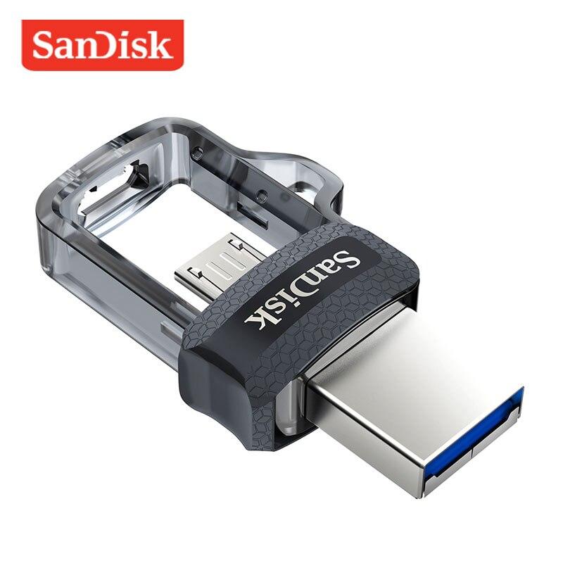 Original Sandisk USB Flash Drive 128GB Pen Drive 64GB Dual OTG USB3.0 150M/S 32GB Pendrive 16GB Memory Stick High Speed