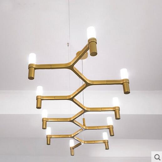 Droplight Утюг пост современный Вилла Дуплекс Лестницы Лофт Дизайн подвесной светильник 10 головок свечи Корона подвесной светильник для рестор