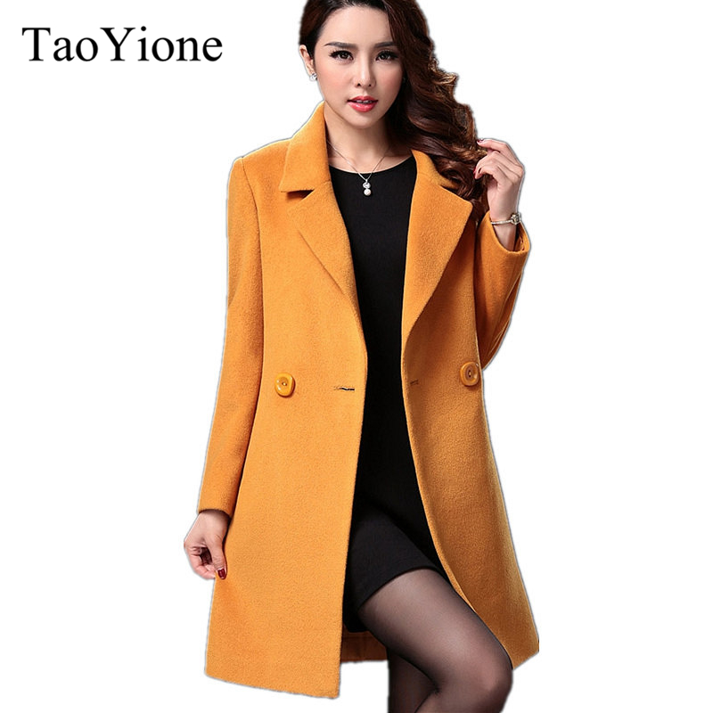European Fashion Long Wool Coat Winter Coat Women Jacket Casual Cashmere Warm Coat Outwear Female Woolen Coat Women Clothing