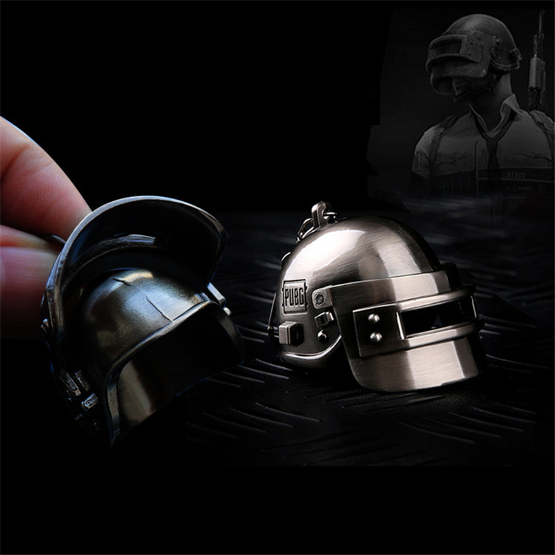 Game PUBG Playerunknown's Battlegrounds Cosplay Props Metal Special Forces Pan Level 3 Helmet Armor BackpackKey Chain Keychain