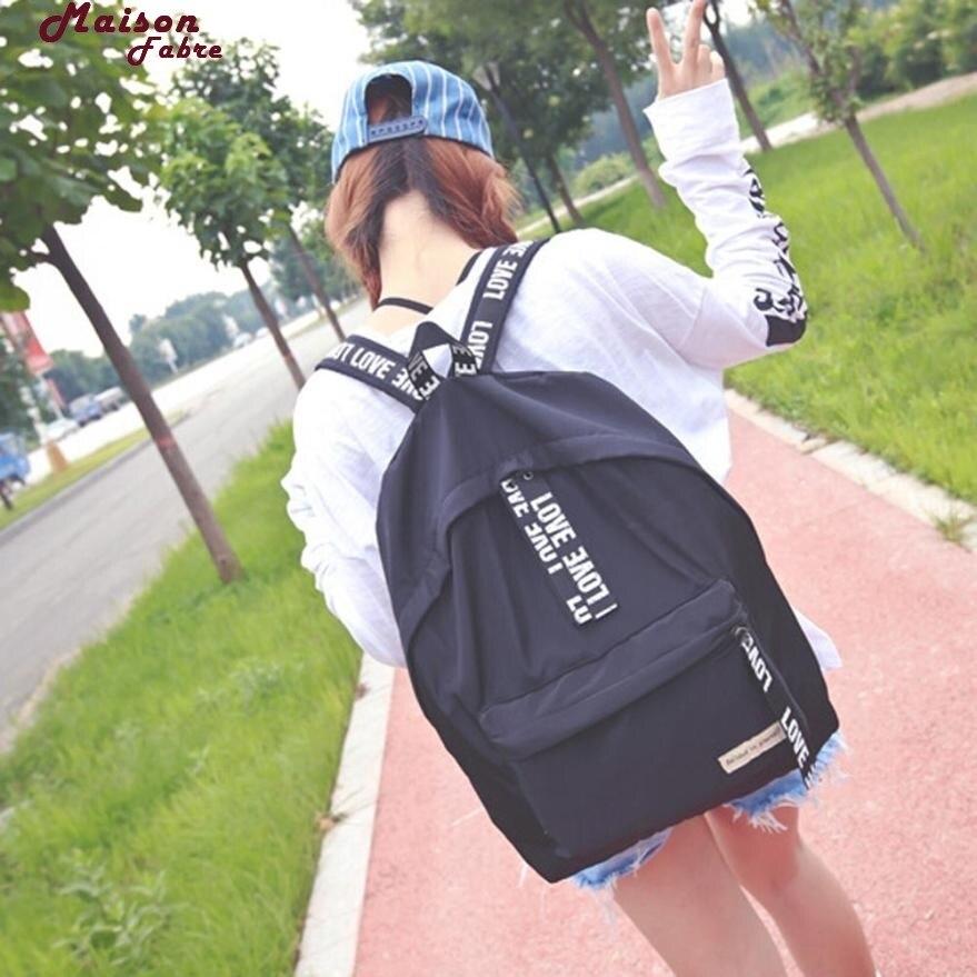 Maison Fabre Backpack  Girls Boys Letter School Bag Travel Backpack Satchel Women Shoulder Rucksack Backpack Maternity 2017d13 #2