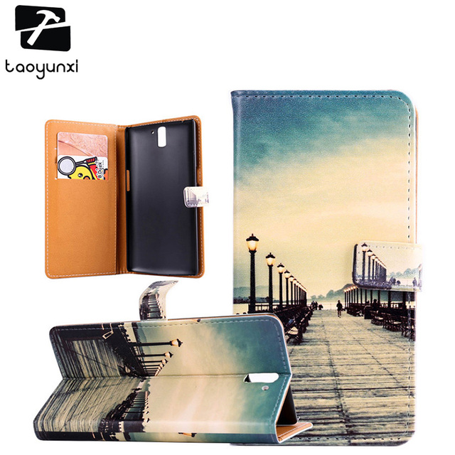 TAOYUNXI For DIY Wallet Case OnePlus One OnePlus1 OnePlus A0001 A1000 A1001 5.5 inch Mobile Phone Case Cover OnePlus One