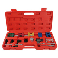 Universal 19Pcs Engine Pulley Timing Belt Camshaft Flywheel Locking Tool Set Kit