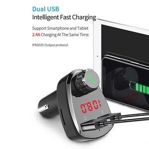 Image 5 - G13 kablosuz araç kiti Bluetooth MP3 müzik çalar eller serbest arama araç kiti ile çift USB akıllı hızlı araba şarjı şarj cihazı