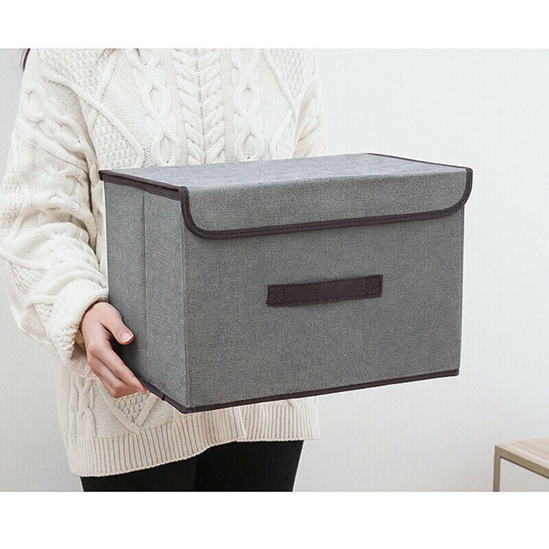 Home Foldable Fabric Storage Box Cube Clothes Basket Bin Closets Table Shelves Organizer Laundry Clothes Bin