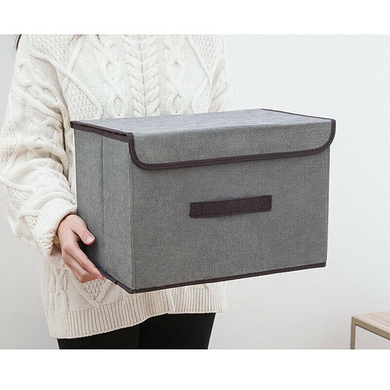 Home Foldable Fabric Storage Box Cube Clothes Basket Bin Closets Table Shelves Organizer Laundry Clothes Bin