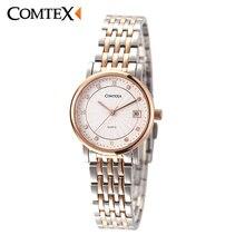 Comtex Brand OL Watch Luxury Rose Gold Woman Wristwatch Sapphire Crystal Japanese Quartz Calendar Dress Watches Lady Gift Clock