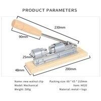 Gỗ thép tay manual nut cracker cutter rau nutcracker gõ tác động clip walnut máy rau quả nhà bếp công c