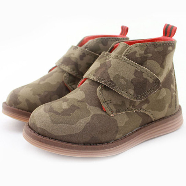 2017 Autumn Midi Toddlers Boys Ankle Boots Shoes Children Boys Casual Shoes Army Colorful Western Boots For Kids