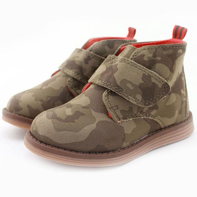 2017 otoño midi niños niños botines shoes niños niños casual shoes ejército colorida occidental botas para niños