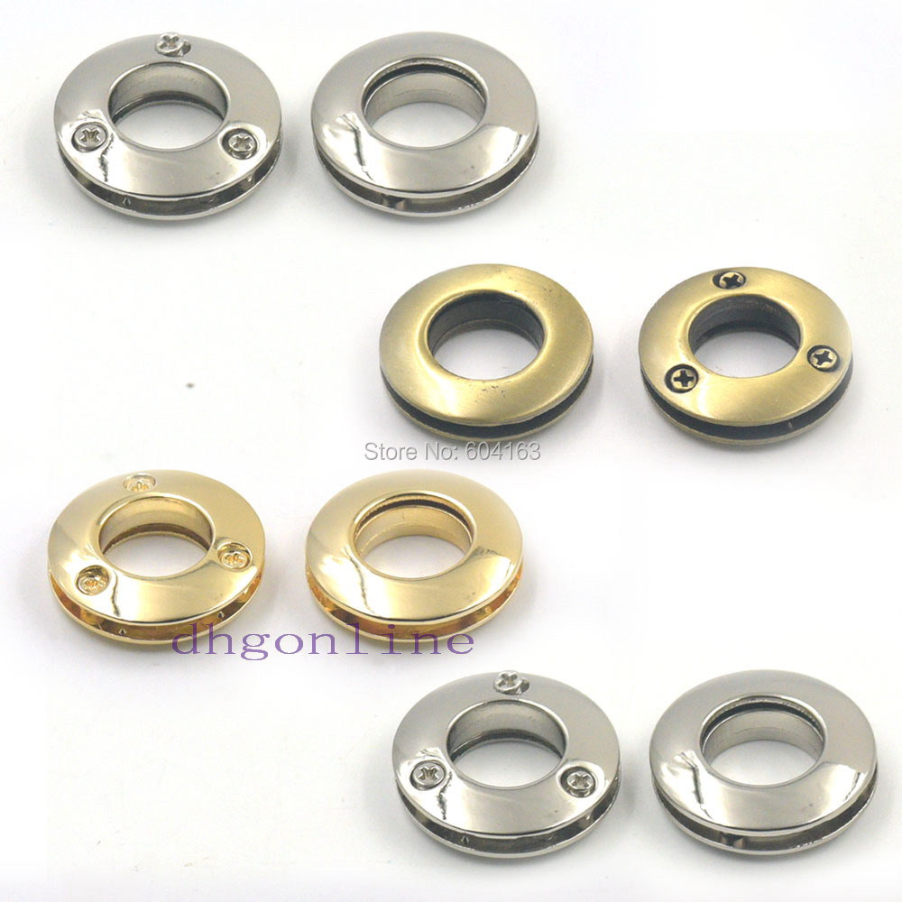 10 Pcs Alloy Grommets Eyelets 14mm 0.55 Canvas Leather Self Backing Screw Purse Buckle Gold