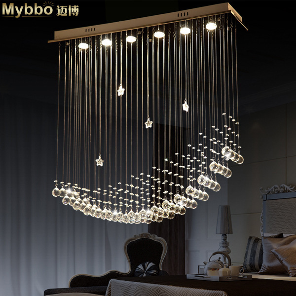 envo de la manera simple moderna lmpara led nave lunar luz comedor lmparas araas de cristal