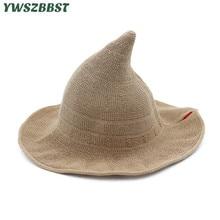 Նոր ամառային կանայք արևի գլխարկներ Նորաձևություն Steeple Witch Hat Կանանց դույլ գլխարկը լայնածավալ հակափայտի դեմ ուլտրամանուշակագույն արևի գլխարկով Կինը ձկնորսական գլխարկ