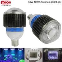 1pcs 50w 100w E27 E40 Aquarium Multichip LED Light Full Spectrum Pendant For Marine Reef,Corals,Reef,Fish Tank