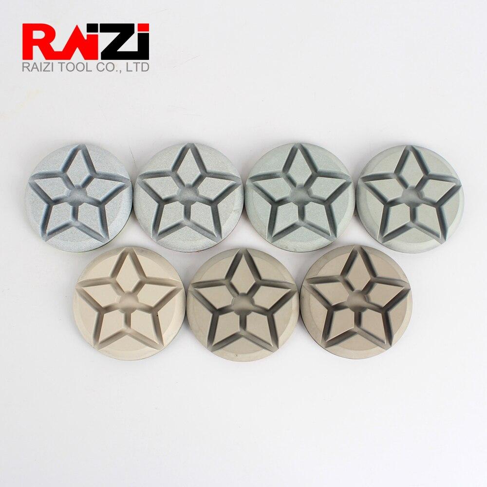 Raizi 3 pouces tampons de polissage de sol en diamant pour béton, Terrazzo 50-3000grain