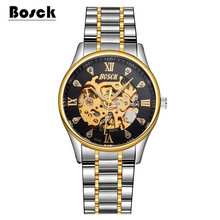 BOSCK 6538 Business Men's Mechanical Watch, Stainless Steel Waterproof Luminous Sport Watch, Casual Fashion Watch relojes hombre
