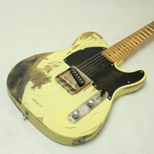 Handwork Aged Relic Electric Guitar with Ash Body in Cream Color,Aged guitarra parts,Real photo show All color are Available