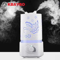 Air Humidifier Aroma Diffuser 7 Color LED With Carve Essential Oil Diffuser Mist Maker For Home