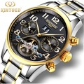 Relogio Masculino KINYUED часы для мужчин люксовый бренд турбийон автоматические механические часы для мужчин бизнес водонепроницаемые наручные часы