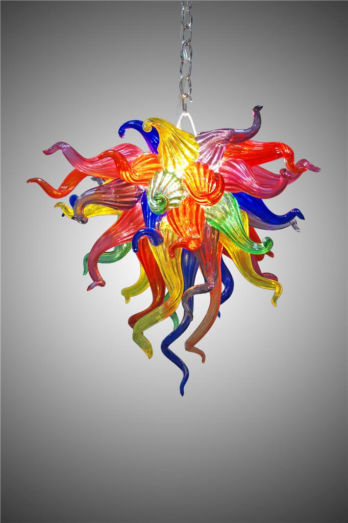 100% True Excellent Chihuly Art Retro Chandeliers 100% Blown Glass Colorful 110/220v Ac Led Borosilicate Glass Art Lamp Chandeliers
