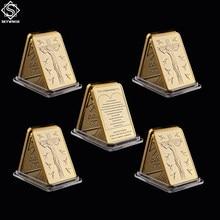 5 uds recuerdo mundo Cristo Jesús 1 OZ revestido de oro Barra de lingote Jesús y Ángel moneda conmemorativa de regalos