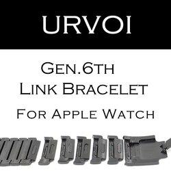 URVOI braccialetto di collegamento banda per apple watch serie 4 3 2 1 cinghia per iWatch regolabile di alta qualità della fascia dell'acciaio inossidabile gen.6