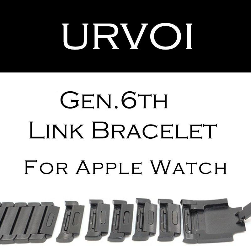 URVOI lien bracelet bande pour apple watch série 4 3 2 1 sangle pour iWatch réglable de haute qualité en acier inoxydable bande gen.6