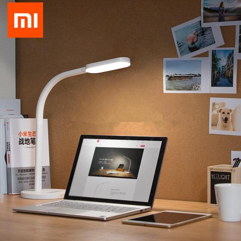 Xiaomi yeeсветодио дный Light Светодиодная настольная лампа с регулируемой яркостью складные огни сенсорные Регулировка гибких ламп 3 Вт экономия...