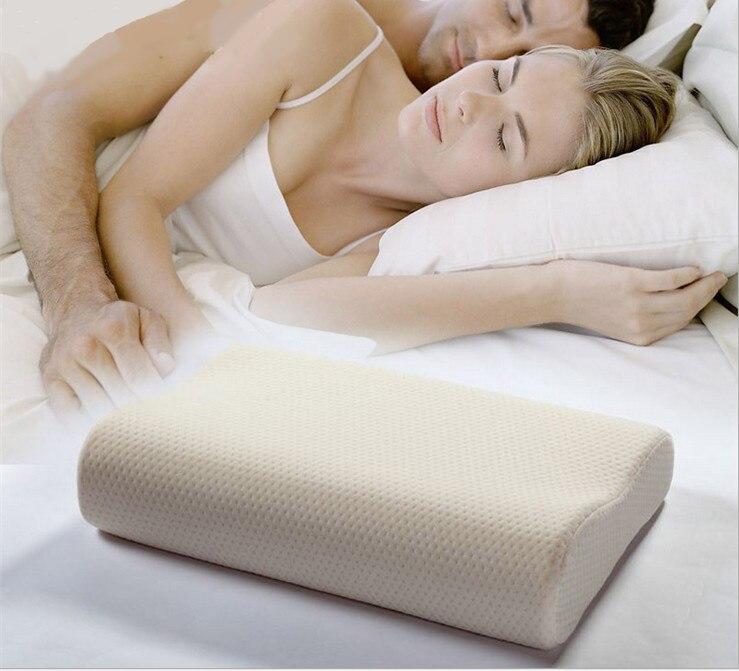 Memory foam pillow font b care b font new Soft Massage Orthopedic Latex Neck Pillow Fiber