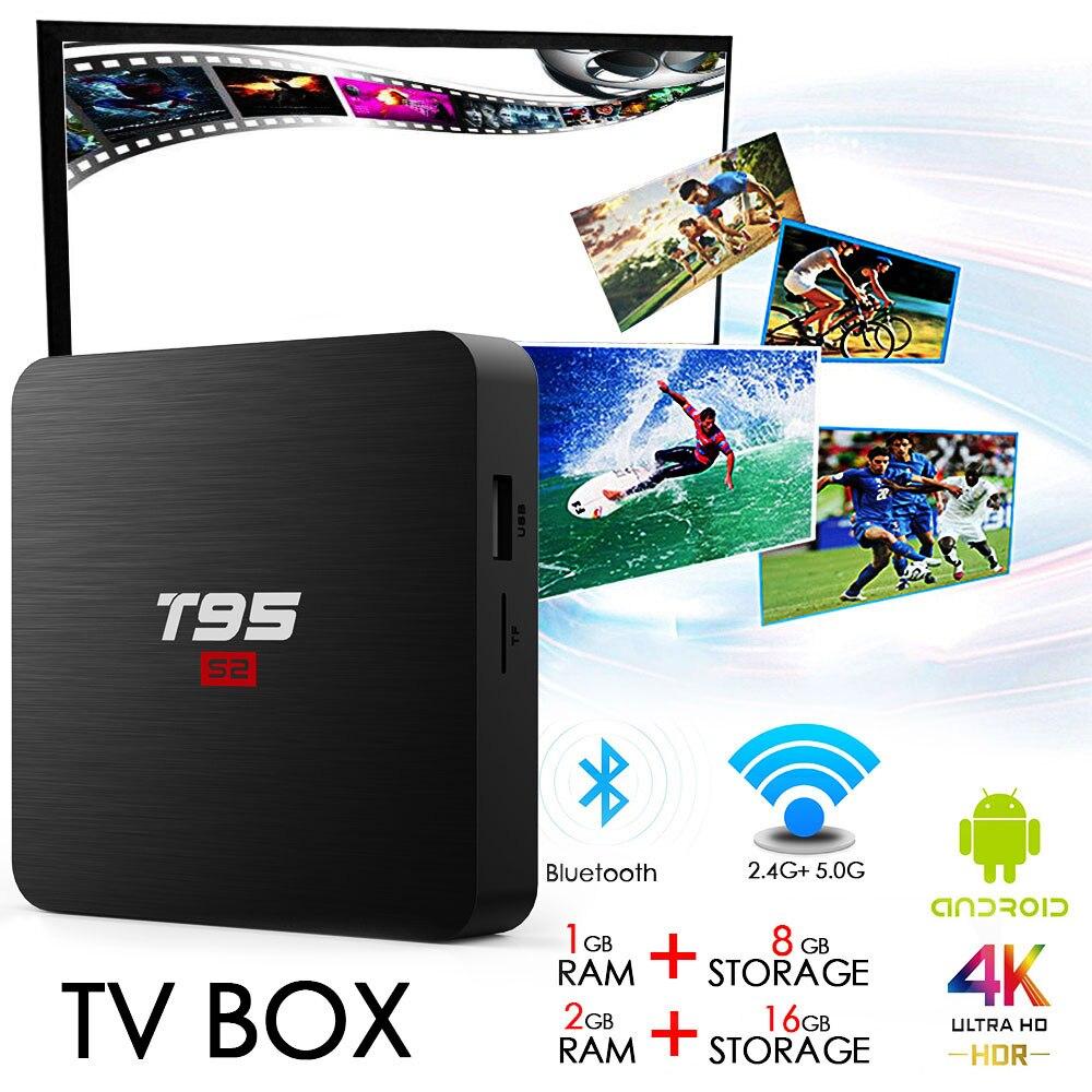 T95 S1 TV Box Androide 7.1 Amlogic S905W Quad-core 2GB RAM ...