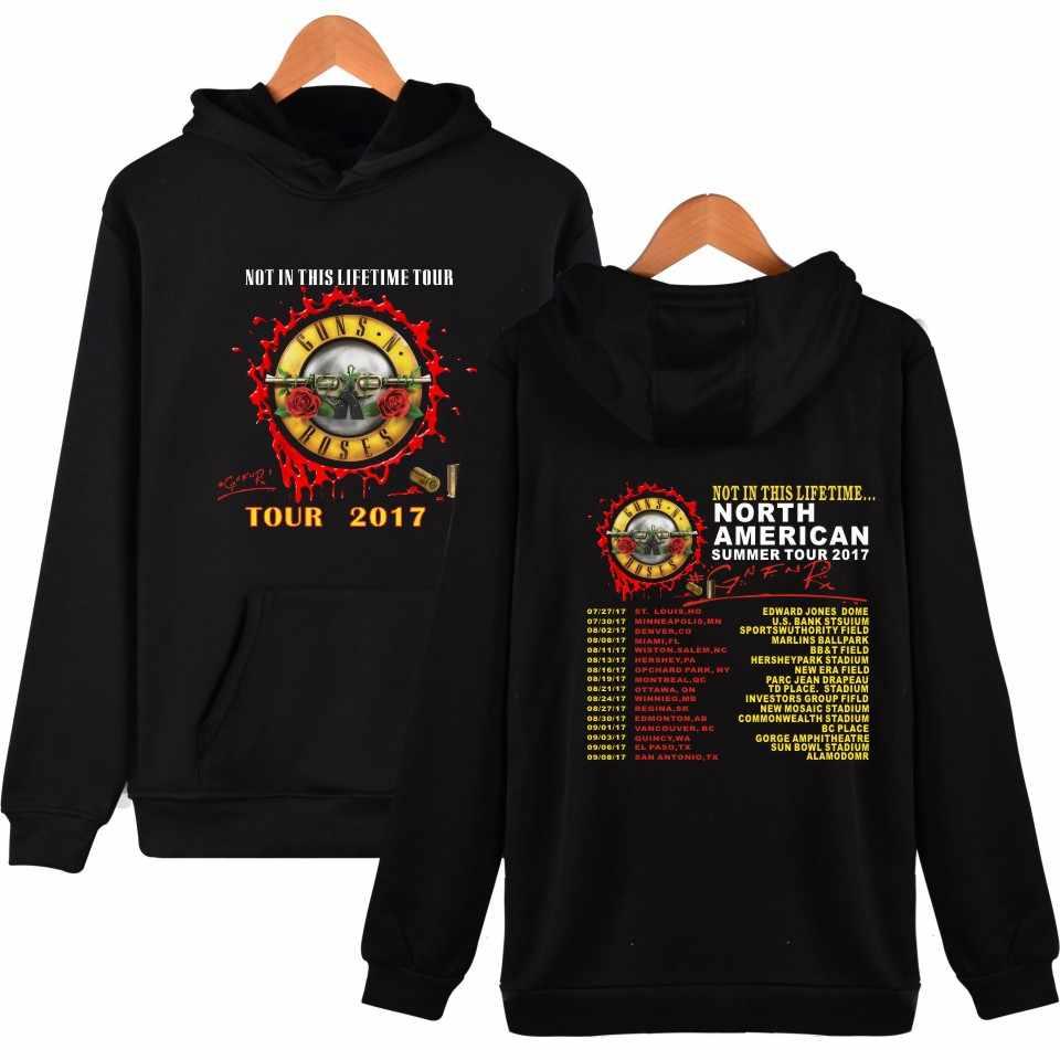 Guns and Roses sudaderas con capucha para hombre otoño suéter con capucha invierno hombres banda de Rock chándal Hip Hop moda chaqueta abrigo Guns N Roses