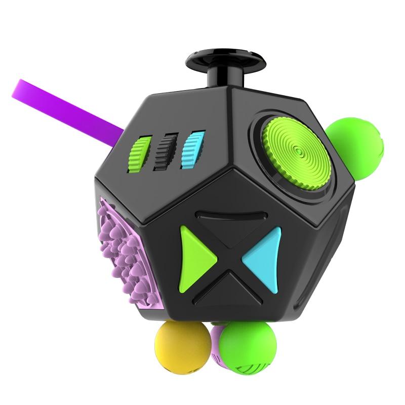 Alivia el estrés regalo de Navidad rompecabezas magia cubos de plástico de escritorio de oficina juguetes alivio de la ansiedad Anti-estrés cubo rompecabezas de juguete adultos