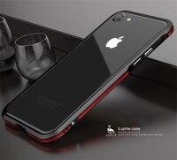 Aluminum Metal Bumper For Apple IPhone 8 Cover Plus Dual Color Ultra Thin Slim Phone Case