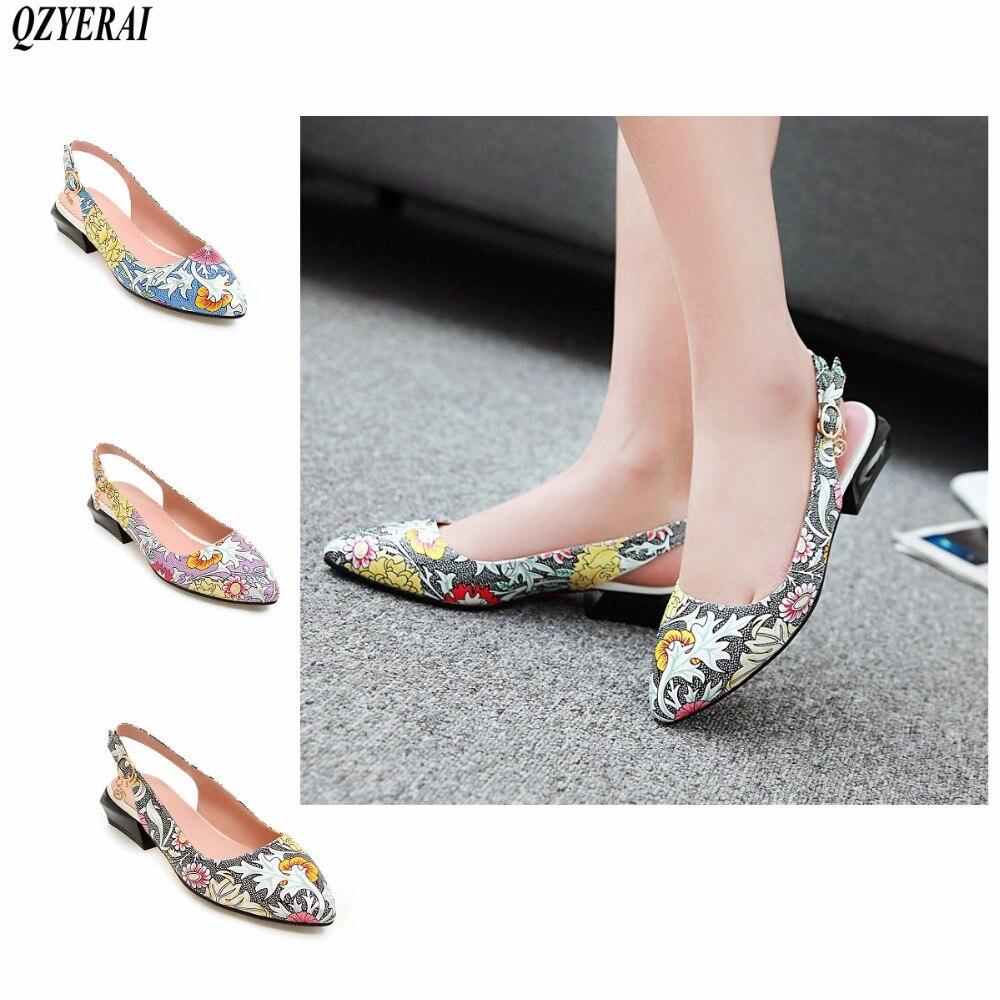 QZYERAI 2018 new design summer women's sandals pointed fashion lap buttons ladies' shoes Japanese sexy sandals qzyerai new to summer summer sexy